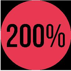 200% casino bonus valikoima